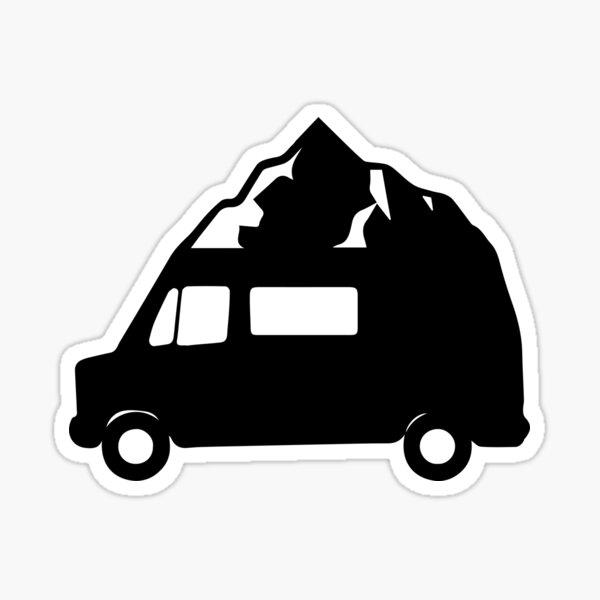 Logo Furgoneta con montaña Pegatina