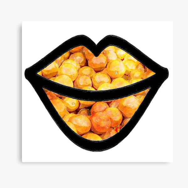 Oranges on the Lips  Canvas Print