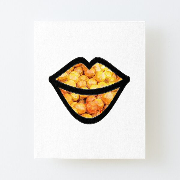 Oranges on the Lips  Canvas Mounted Print