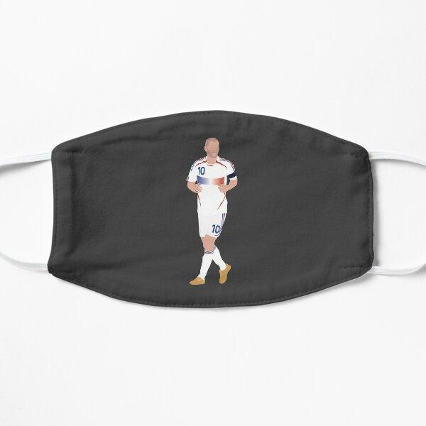 Zinedine Zidane. France, Football. Masque sans plis
