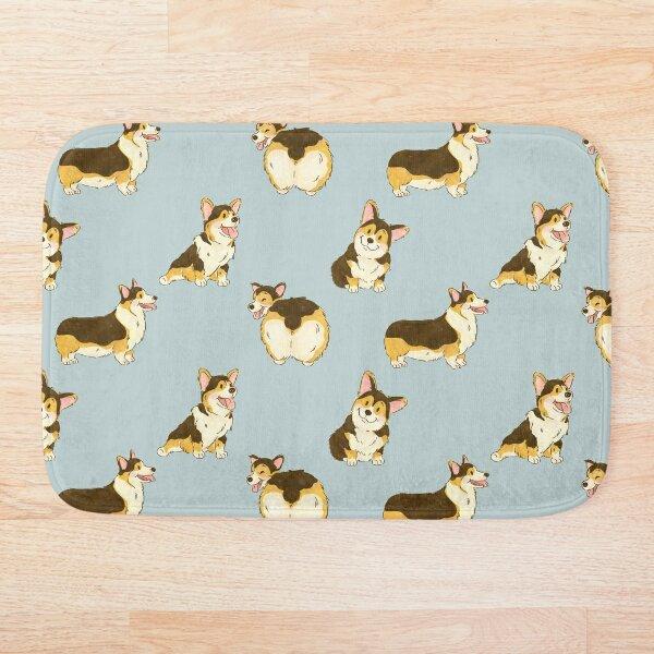Tri Color Corgi Dog Bath Mat