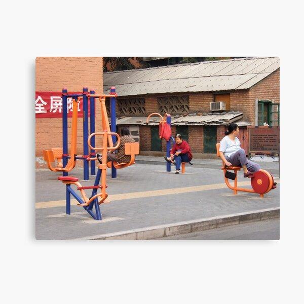 Beijing 2006 - Workout or hangout Canvas Print