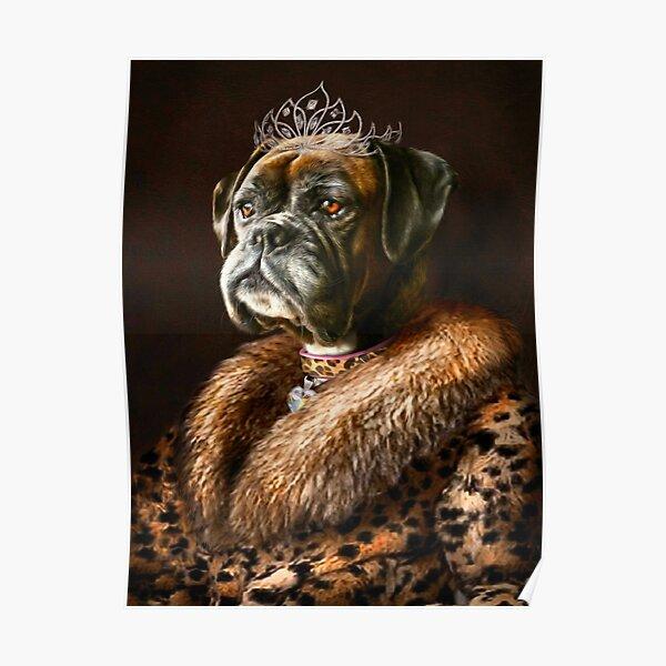 Boxer Dog Portrait - Ruby  Poster