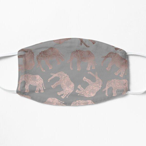 Stylish boho rose gold elephant pattern  Flat Mask