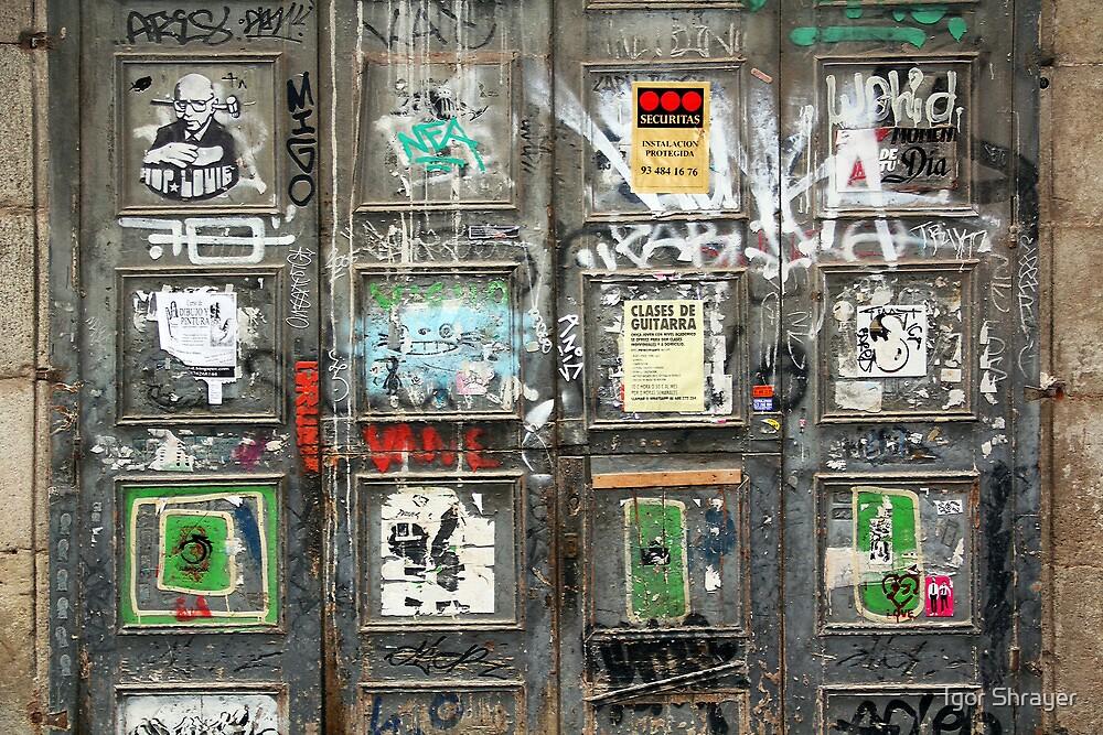 Memories of Spain 4 - Artsy Door in Barcelona's Born Quarter by Igor Shrayer