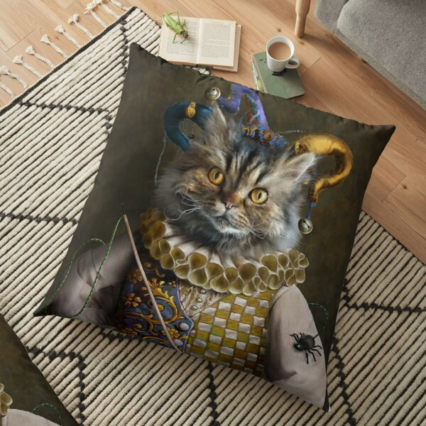 Cat Portrait - Hamish Floor Pillow