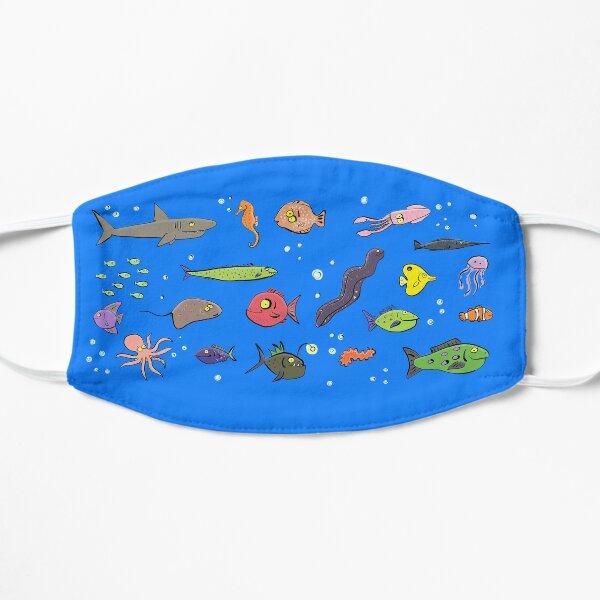 Cute under sea life cartoon Flat Mask