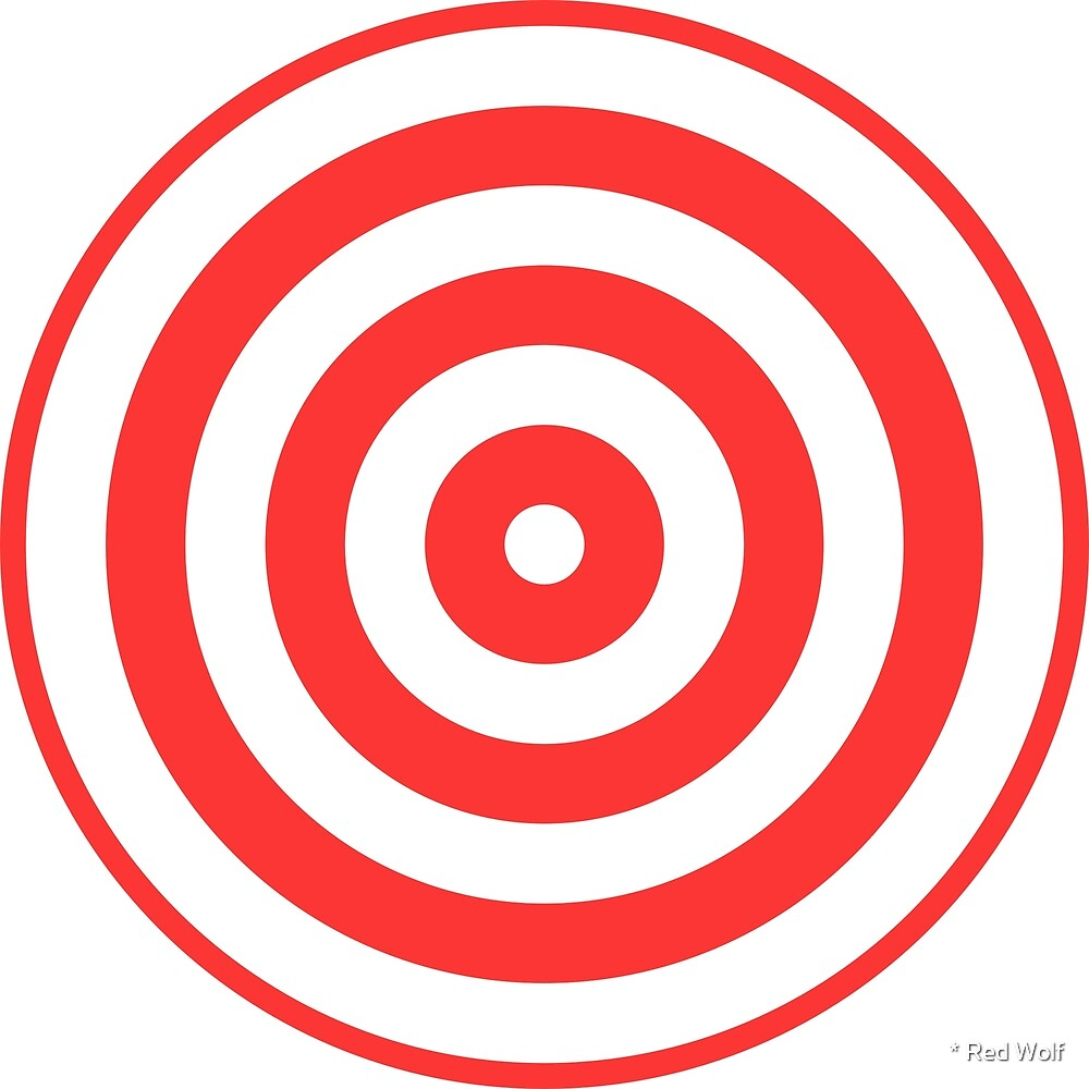 Geometric Pattern: Rondel: White Red by * Red Wolf