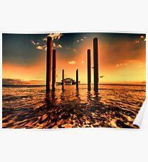 Brighton west Pier sunset Poster