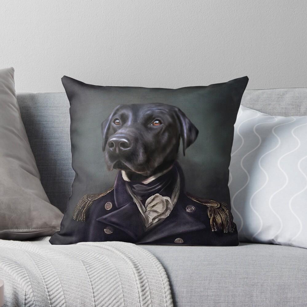 Labrador Portrait - Jake  Throw Pillow