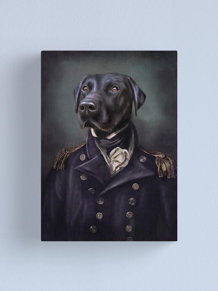 Alternate view of Labrador Portrait - Jake  Canvas Print