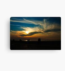 Sunset at the seaside Canvas Print