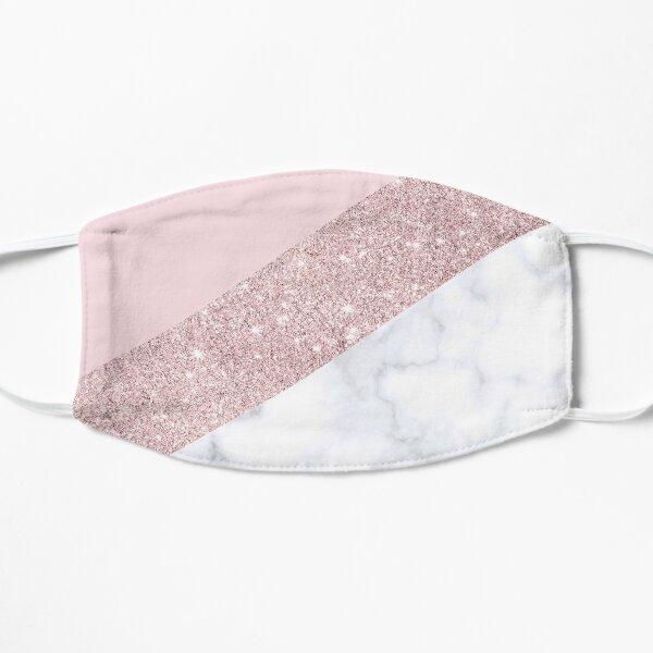faux paillettes d'or rose et rose pastel. Masque sans plis