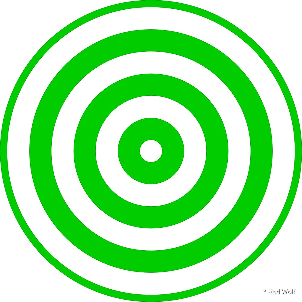Geometric Pattern: Rondel: White Green by * Red Wolf