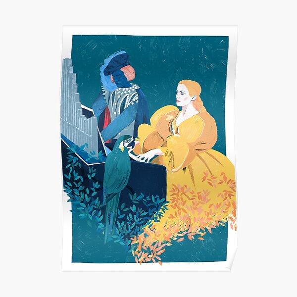 Peau d'Ane - Movie Pencil illustration Poster