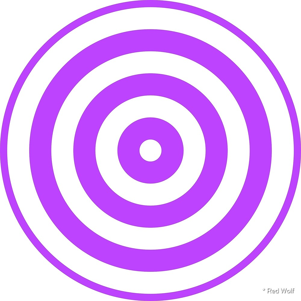 Geometric Pattern: Rondel: White Purple by * Red Wolf