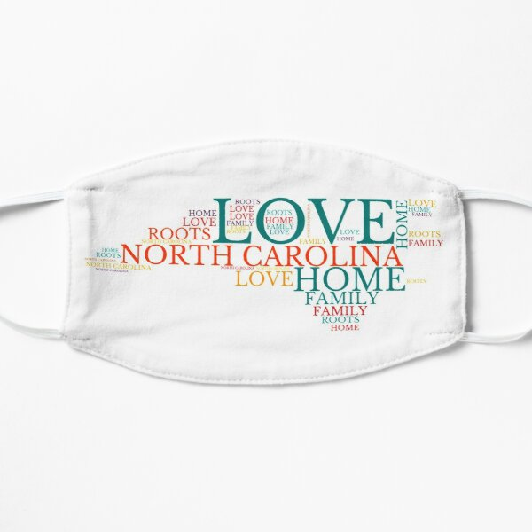 North Carolina Home, Love, Roots and Family Map Flat Mask