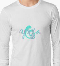 yoga swirl aqua Long Sleeve T-Shirt
