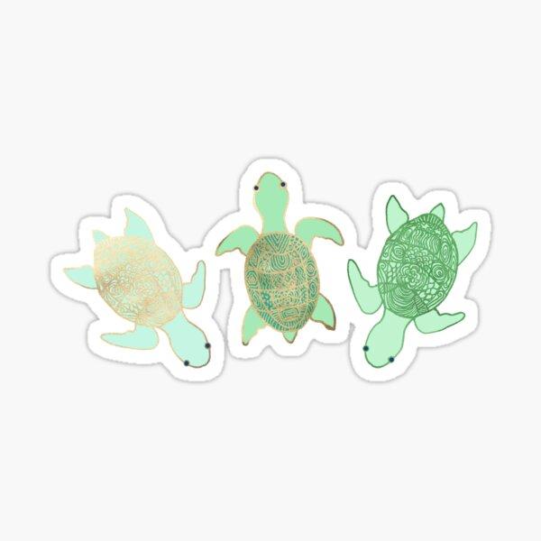 Gilded Jade & Mint Turtles Sticker