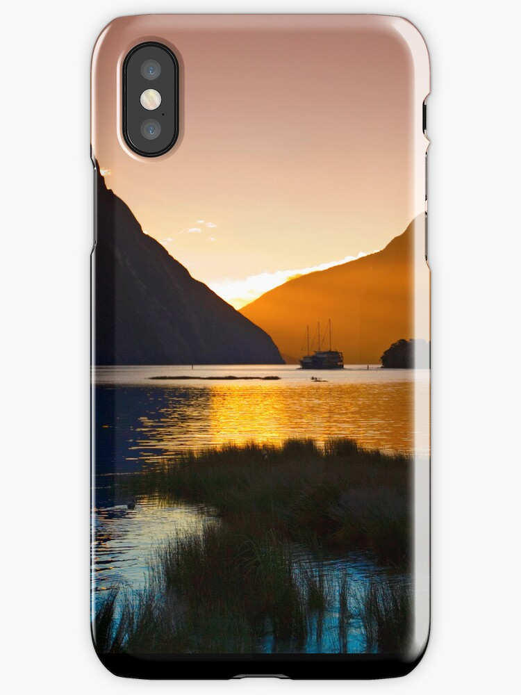 Milford at Sunset  - iPhone case by Odille Esmonde-Morgan