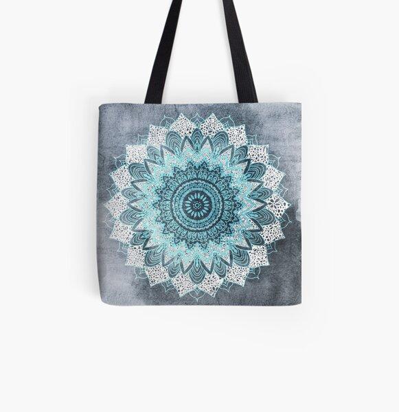BOHOCHIC MANDALA IN BLUE All Over Print Tote Bag