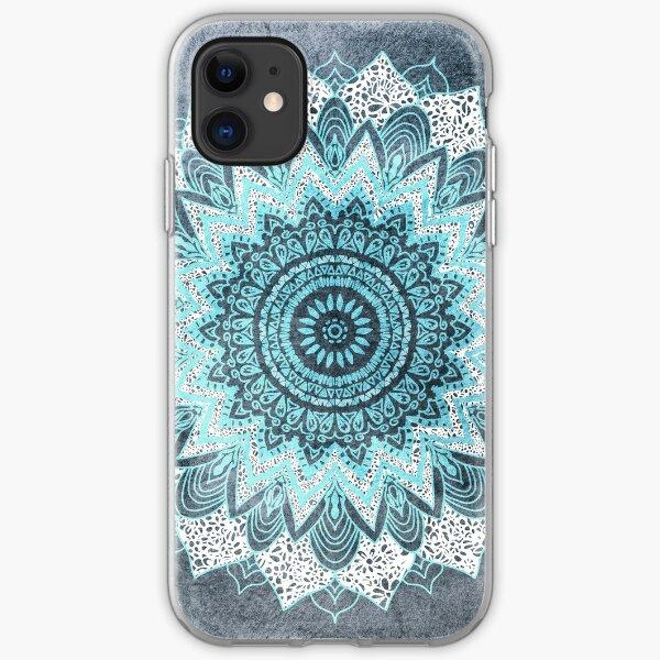BOHOCHIC MANDALA IN BLUE iPhone Soft Case