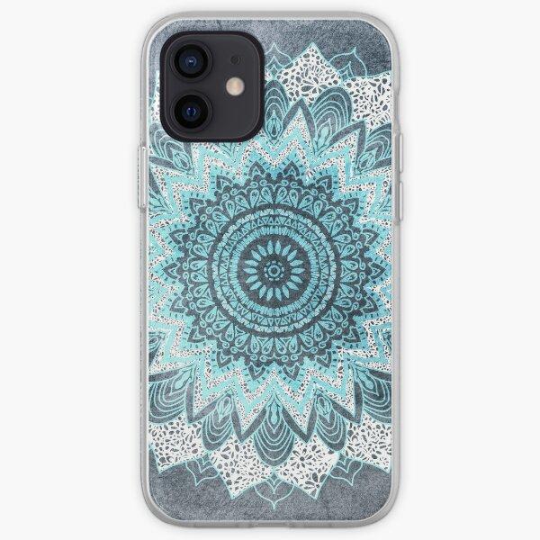 MANDALA BOHOQUICA EN AZUL Funda blanda para iPhone