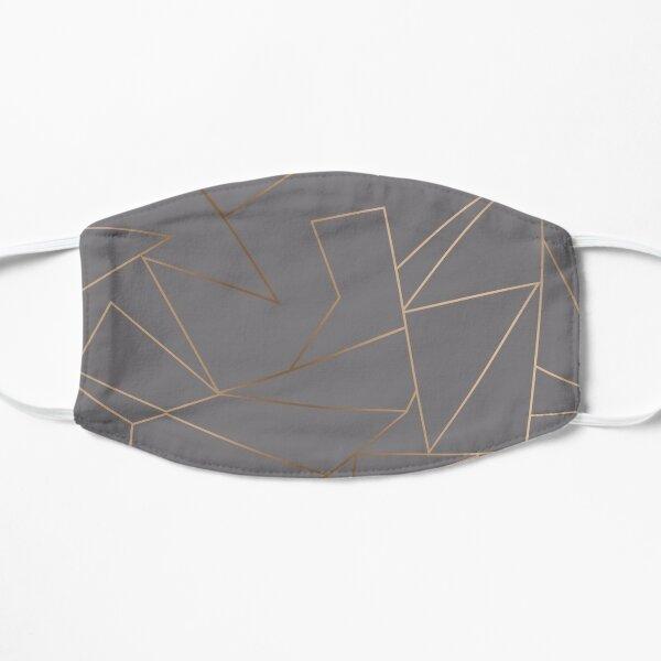 Elegant rose gold geometric pattern  Flat Mask