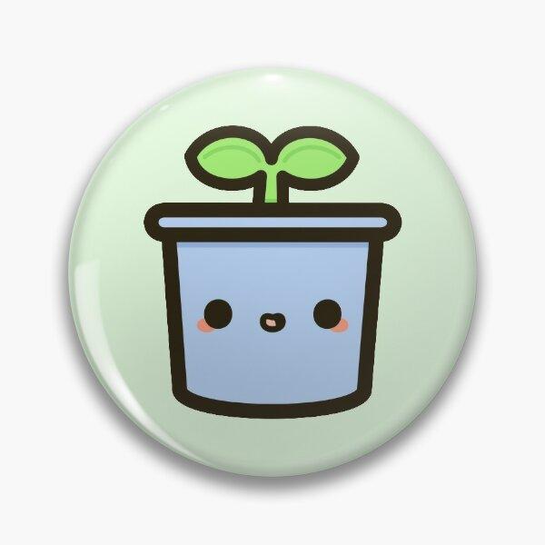 Germes mignons en pot Badge