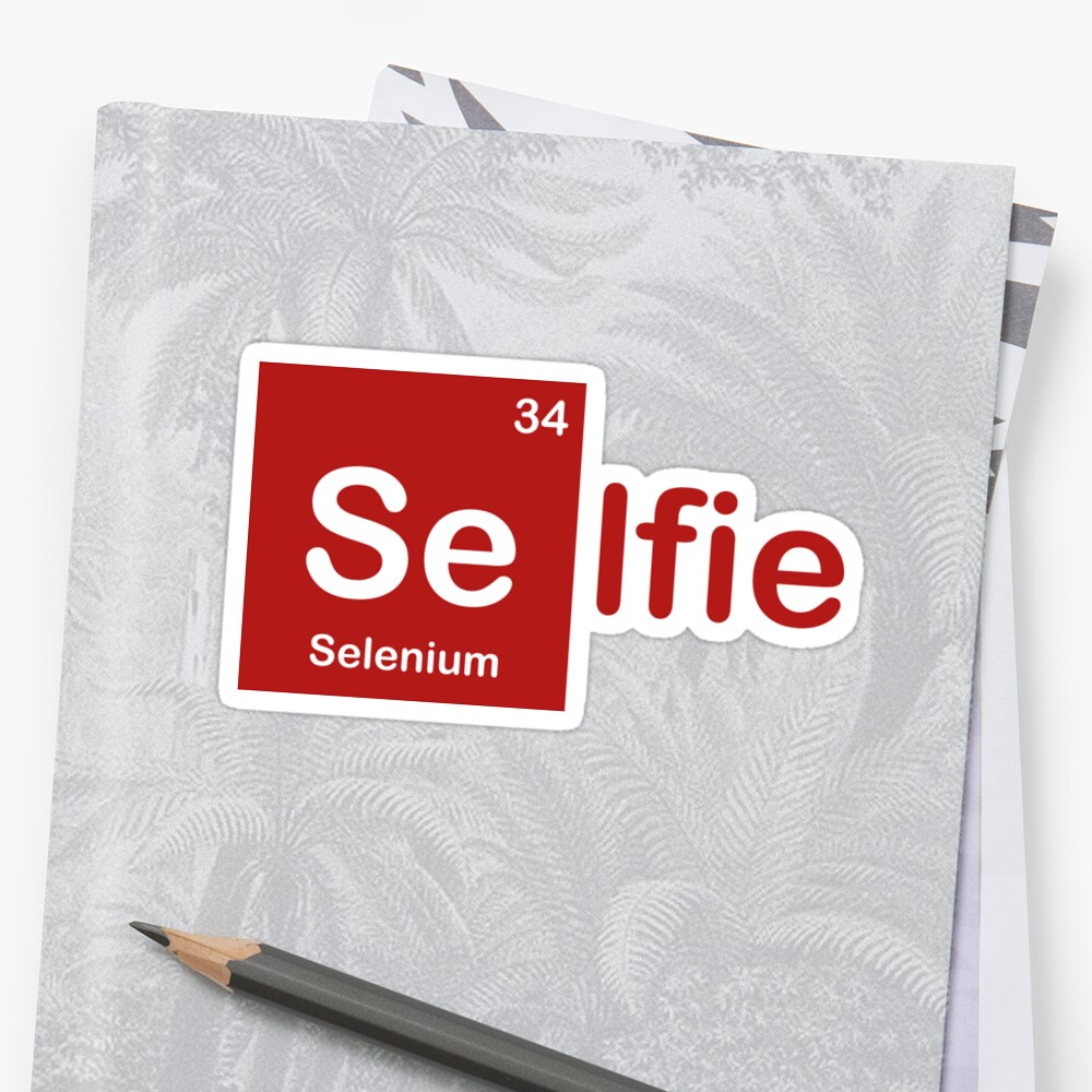 A selenium selfie from the periodic table stickers by g design a selenium selfie from the periodic table by g design gamestrikefo Images