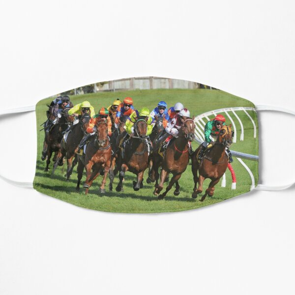 Horse racing action Mask