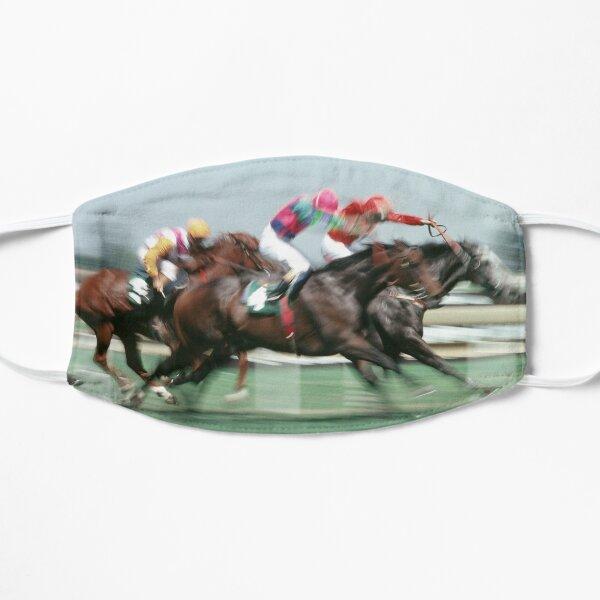 Horse racing action 5 Flat Mask
