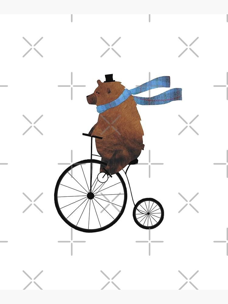 Cheltenham the Bear: Penny farthing fun by Suziebh