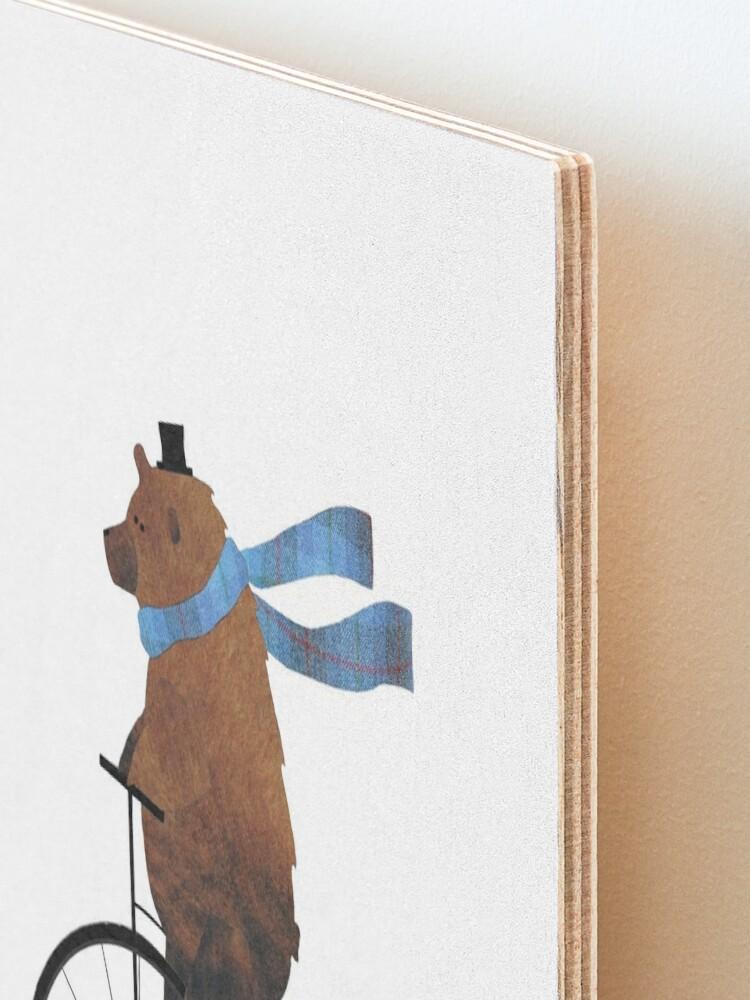 Alternate view of Cheltenham the Bear: Penny farthing fun Mounted Print