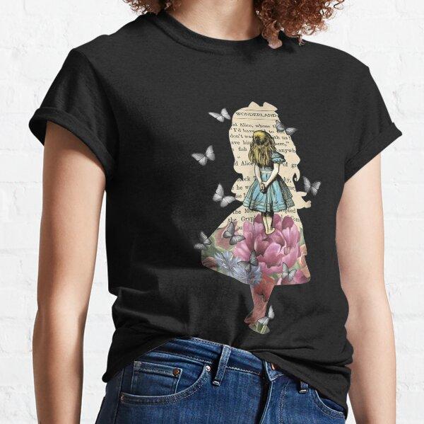 Alice In Wonderland Magical Garden - Vintage Book Classic T-Shirt