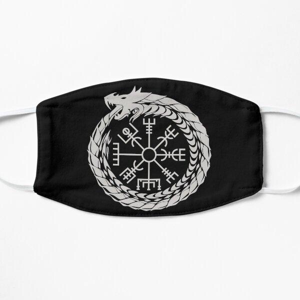 Vegvisir Jormungandr World Serpent Mythologie nordique Masque sans plis