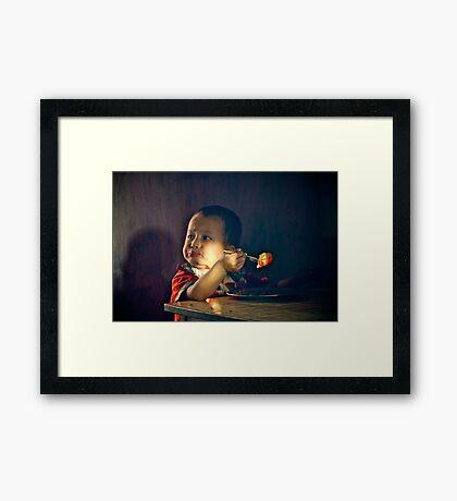 Hungry Boy III Framed Print
