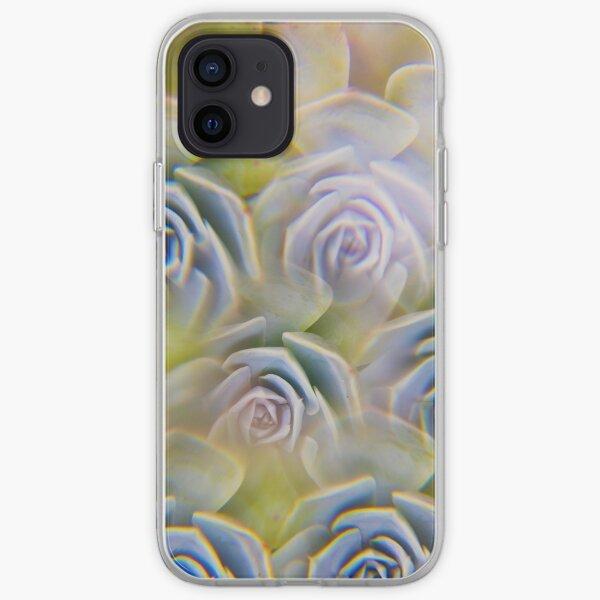 Succulent photographed through prism filter iPhone Soft Case