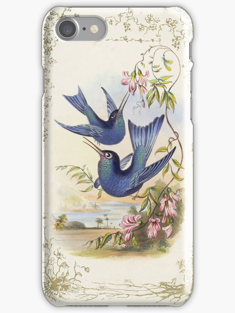 iPhone Case Hummingbirds by Melanie  Dooley