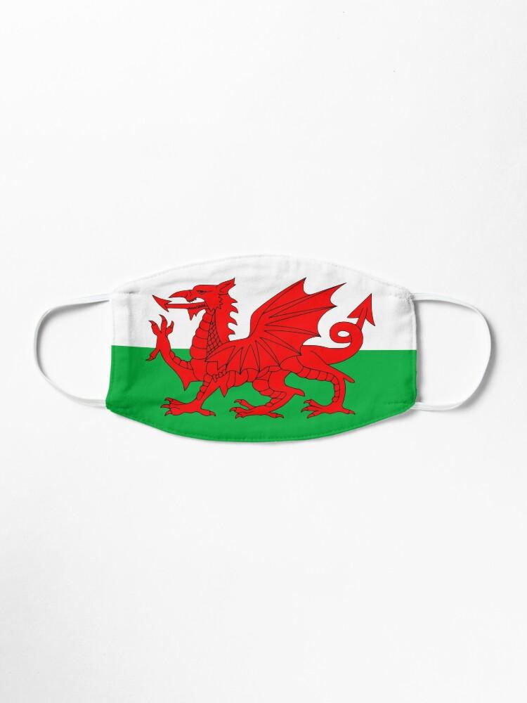 Alternate view of Welsh Flag, Baner Cymru, Y Ddraig Goch, Welsh Dragon Mask