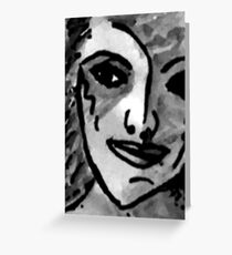 An Impressionistic portrait, watercolor Greeting Card