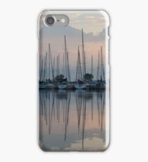 Pastel Sailboats Reflections at Dusk iPhone Case/Skin