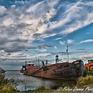 Lough Neagh Sand Boat by peter donnan