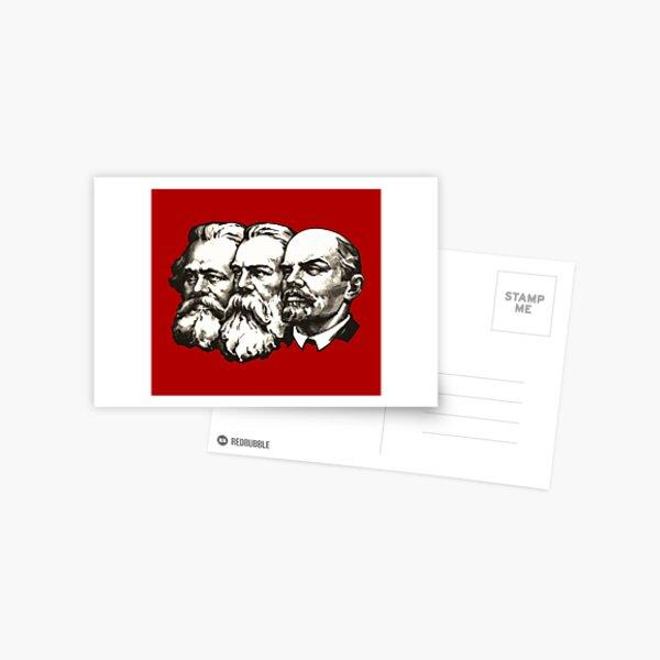 Marx, Engels und Lenin Postkarte