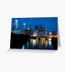 Philadelphia Skyline at Night Greeting Card