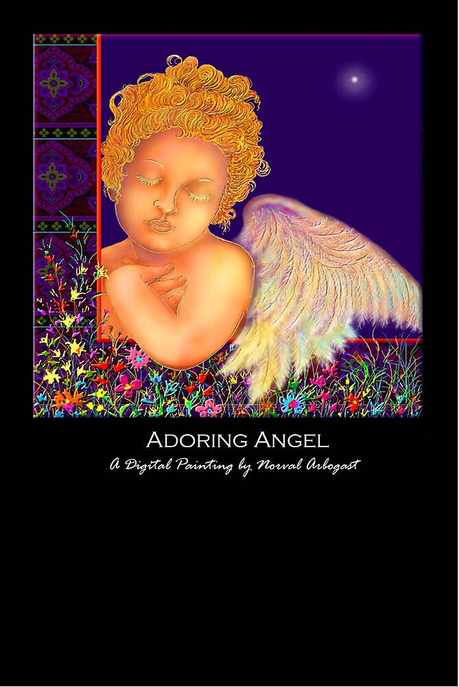 'Adoring Angel' Titled Greeting Card or Small Print by luvapples downunder/ Norval Arbogast