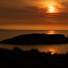 Sunset At Flinders Island by Andrew  Makowiecki