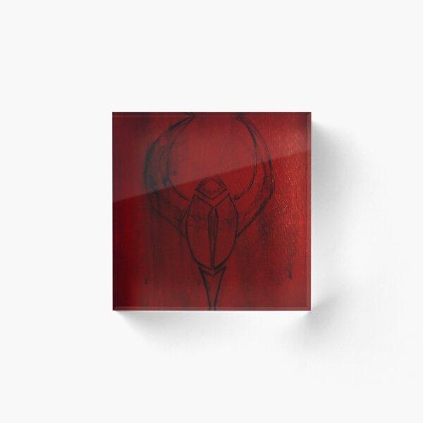 Scarlet Cave Scarab Acrylic Block