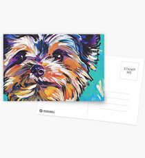 Yorkie Yorkshire Terrier Bright colorful pop dog art Postcards
