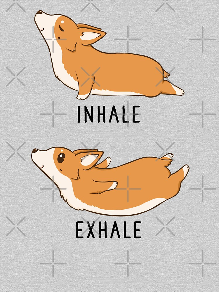 Inhale Exhale Corgi Yoga by thepawster